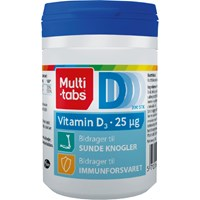 Multi-tabs D3-vitamin 25 μg, 300 stk.